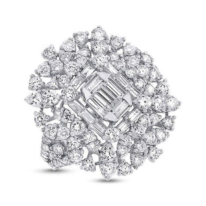 18k White Gold Diamond Lady's Ring - 2.89ct