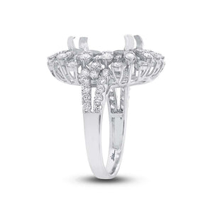 18k White Gold Diamond Semi-mount Ring - 1.72ct