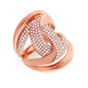 14k Rose Gold Diamond Lady's Ring - 1.15ct
