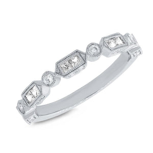 14k White Gold Diamond Lady's Ring - 0.56ct