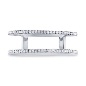 14k White Gold Diamond Lady's Ring Size 7.25 - 0.17ct