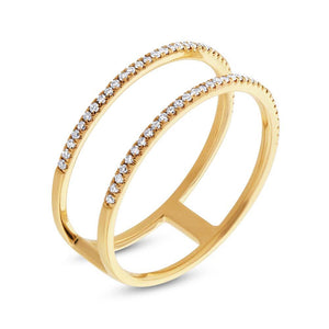 14k Yellow Gold Diamond Lady's Ring - 0.17ct