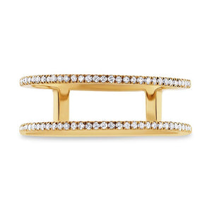 14k Yellow Gold Diamond Lady's Ring Size 3.25 - 0.17ct