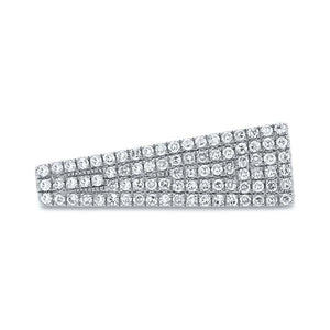 14k White Gold Diamond Pave Lady's Ring - 0.27ct