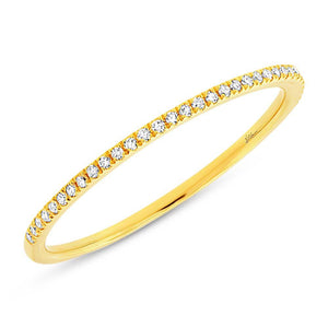 14k Yellow Gold Diamond Lady's Band Size 5.5