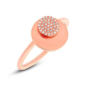 14k Rose Gold Diamond Circle Ring - 0.08ct