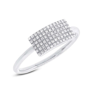 14k White Gold Diamond Lady's Ring - 0.21ct