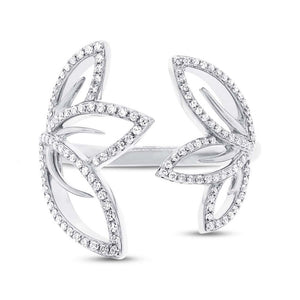 14k White Gold Diamond Lady's Ring - 0.30ct