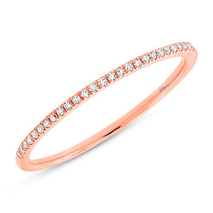 14k Rose Gold Diamond Lady's Band Size 2.5