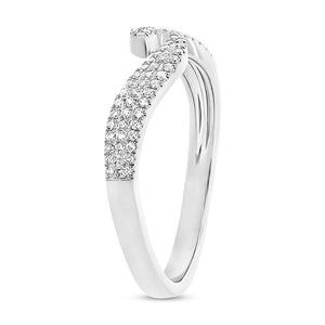 14k White Gold Diamond Lady's Ring - 0.17ct
