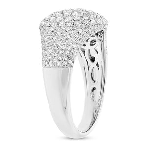 14k White Gold Diamond Pave Lady's Ring - 1.29ct