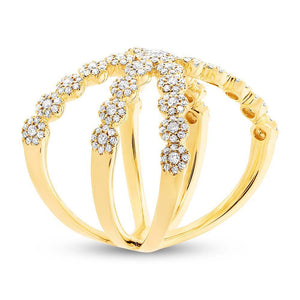 14k Yellow Gold Diamond Lady's Ring - 0.80ct