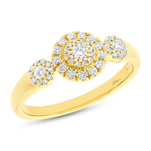 14k Yellow Gold Diamond Lady's Ring - 0.36ct