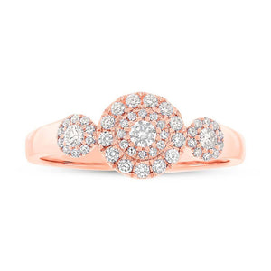 14k Rose Gold Diamond Lady's Ring - 0.36ct