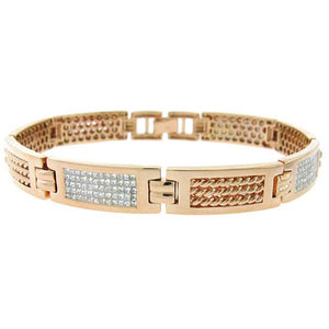 14k Rose Gold Diamond Men's Invisible Bracelet