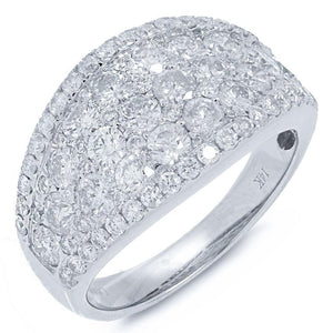 14k White Gold Diamond Lady's Ring - 2.39ct