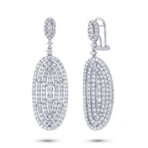 18k White Gold Diamond Earring - 4.79ct