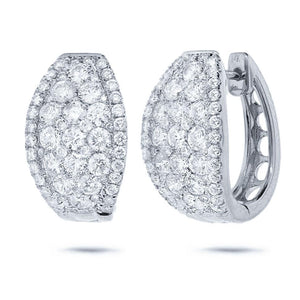 14k White Gold Diamond Earring - 3.25ct