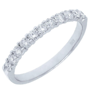 14k White Gold Diamond Lady's Band - 0.51ct