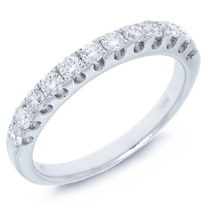14k White Gold Diamond Lady's Band - 0.50ct