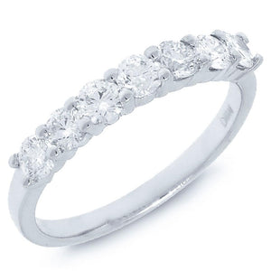 14k White Gold Diamond Lady's Ring - 0.77ct