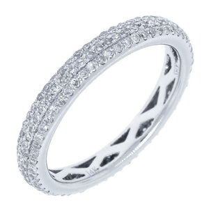 14k White Gold Diamond Lady's Pave Eternity Band - 0.48ct