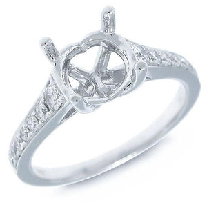 14k White Gold Diamond Semi-mount Ring - 0.27ct