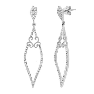 14k White Gold Diamond Earring - 0.44ct