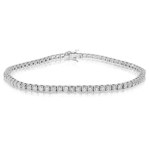 18k White Gold Diamond Tennis Bracelet - 3.02ct