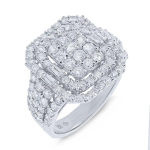 18k White Gold Diamond Lady's Ring - 2.40ct