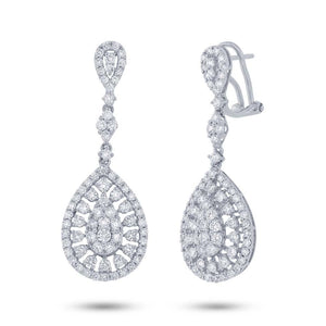 18k White Gold Diamond Earring - 2.81ct