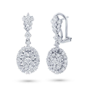 18k White Gold Diamond Earring - 1.30ct