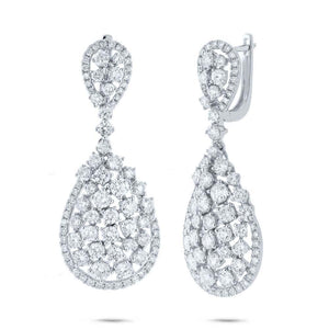 14k White Gold Diamond Earring - 5.67ct