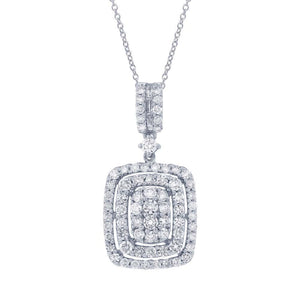 18k White Gold Diamond Pendant - 0.98ct
