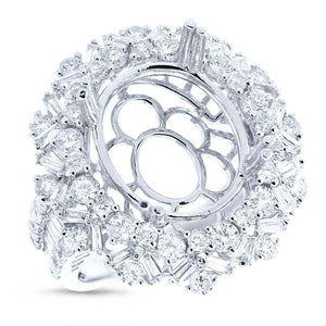 18k White Gold Diamond Semi-mount Ring - 2.24ct