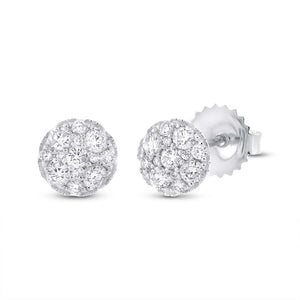 14k White Gold Diamond Cluster Earring - 0.51ct
