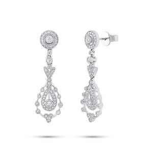 14k White Gold Diamond Fancy Earring - 0.73ct