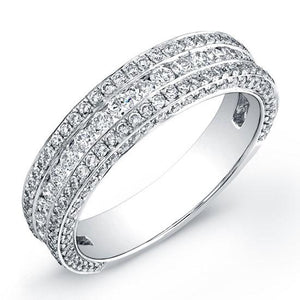 18k White Gold Diamond Lady's Band Size 5 - 1.30ct