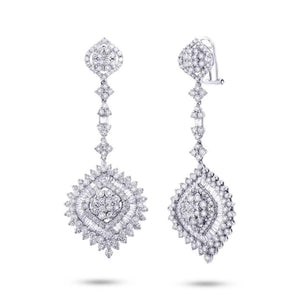 18k White Gold Diamond Earring - 8.47ct