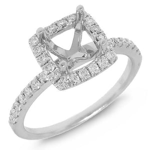 14k White Gold Diamond Semi-mount Ring - 0.34ct