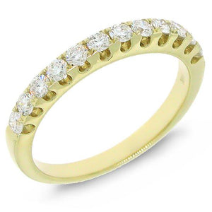 14k Yellow Gold Diamond Lady's Band - 0.50ct