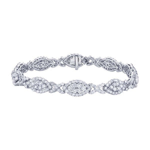 18k White Gold Diamond Lady's Bracelet - 7.06ct
