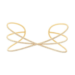 14k Yellow Gold Diamond Bangle - 0.44ct