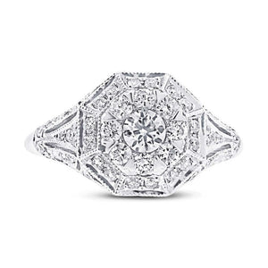 14k White Gold Diamond Lady's Ring - 0.99ct