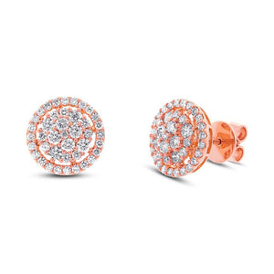 18k Rose Gold Diamond Earring - 1.37ct