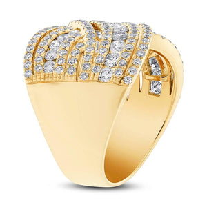 14k Yellow Gold Diamond Lady's Ring - 1.89ct