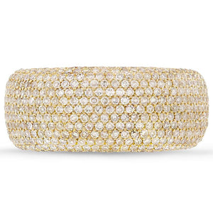 14k Yellow Gold Diamond Pave Lady's Ring - 0.87ct