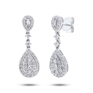 18k White Gold Diamond Earring - 1.09ct