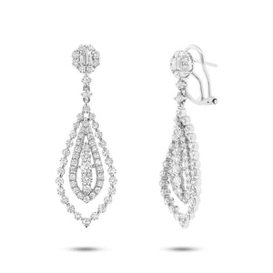 18k White Gold Diamond Earring - 2.90ct
