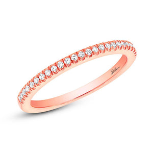 14k Rose Gold Diamond Lady's Band Size 6